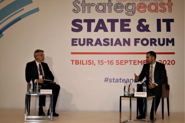 სახელმწიფო სერვისების განვითარების სააგენტოს თავმჯდომარემ აღმოსავლეთ ქვეყნების სტრატეგიული და ინფორმაციული ტექნოლოგიების ევრაზიის ონლაინ ფორუმში (The 2nd StrategEast State and IT Eurasian Forum) მიიღო მონაწილეობა
